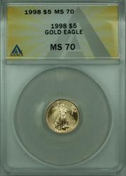 1998  American Eagle 1/10th Oz $5 AGE  ANACS