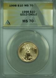 1998  American Eagle 1/4 Oz $10 AGE  ANACS
