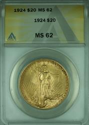 1924 St. Gaudens Double Eagle $20   ANACS