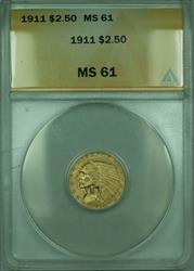 1911 Indian Quarter Eagle $2.50   ANACS