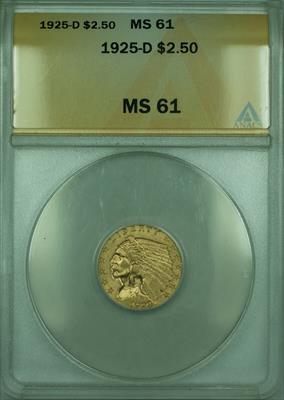 1925 D Indian Quarter Eagle $2.50   ANACS