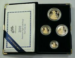 2010 US Mint American  Eagle Set Gem Proof Bullion s AGE Box & COA (JAB)
