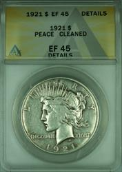 1921 Peace   $1  ANACS Details Cleaned (A)