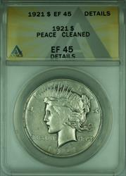 1921 Peace   $1  ANACS Details Cleaned (B)