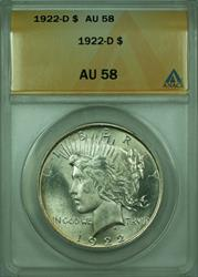 1922 D Peace   $1  ANACS (Better )
