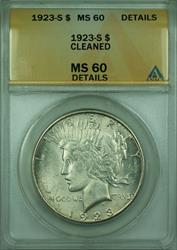 1923 S Peace   $1  ANACS Details Cleaned
