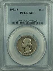 1932 S Washington  Quarter 25c PCGS Scarce Key Date