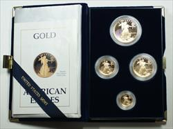 1988 American Eagle  Proof 4  Set AGE in Box w/ COA Roman Numerals