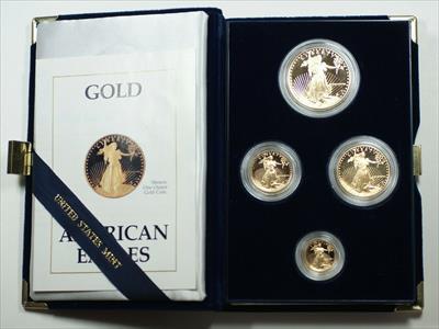 1988 American Eagle  Proof 4  Set AGE in Box w/ COA Roman Numerals