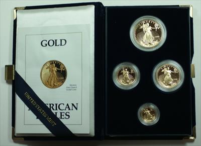 1992 American Eagle  Proof 4  Set AGE in Box w/ COA