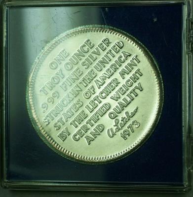 1973 One Ounce Troy  Proof  Eagle Reverse .999 Fine