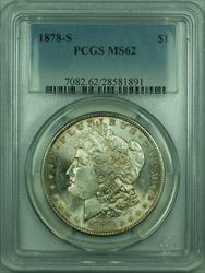 1878 S Morgan   S$1 PCGS Lightly Toned and Undergraded (30)