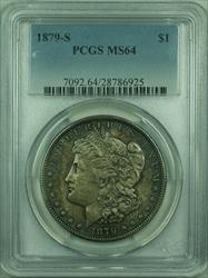 1879 S Morgan   S$1 PCGS Richly Colored Dark Toning (30)