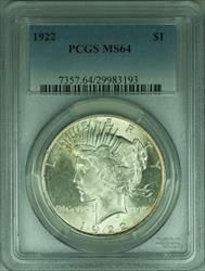 1922 Peace   S$1 PCGS Stellar Obverse Luster (30)