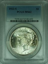 1922 S Peace   S$1 PCGS Exceptional Luster (30)