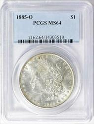1885 O Morgan    PCGS  Certified Mint State 64