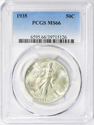 1935 Walking Liberty Half   PCGS  Mint State 66