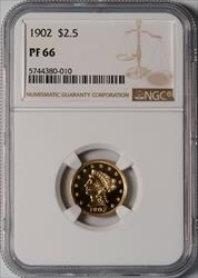 1902 $2.5 Liberty Head -- NGC PF66