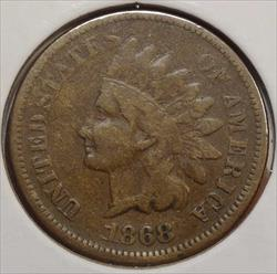 1868 Indian Cent, Very Good, Better Date