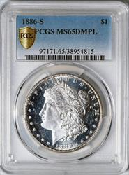 1886-S Morgan Dollar -- PCGS MS65 DMPL