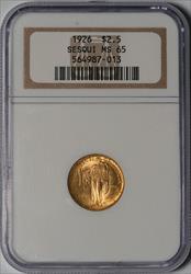 1926 $2.5 Sesquicentennial -- NGC MS65