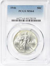 1946 Walking Liberty  Half   PCGS  Mint State 64