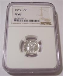 1955 Roosevelt Dime Proof PF69 NGC