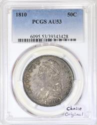 1810 Capped Bust Half Dollar PCGS AU-53; Choice Original