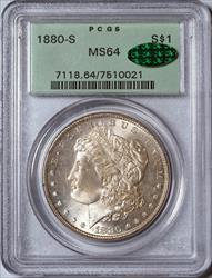 1880-S Morgan Dollar -- PCGS MS64 CAC