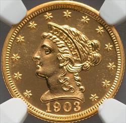 1903 $2.5 Liberty Head -- NGC PF67