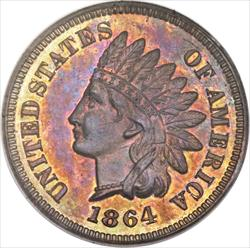 "1864 Indian Head Cent, ""L on Ribbon"" -- PCGS PR64RB"