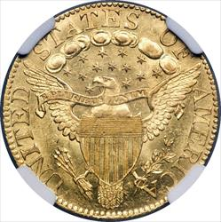 1802/1 Capped Bust $5 Heraldic Eagle -- NGC MS64