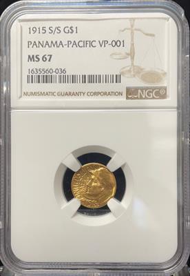 1915-S G$1 Panama-Pacific MS67 NGC