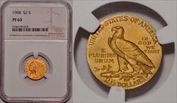 1908 $2.50 PR63 NGC