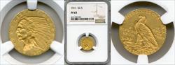 1911 $2.50 PR63 NGC