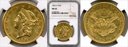 1852-O $20 MS62 NGC