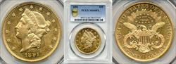 1891 $20 MS60PL PCGS