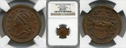 1863 Token F-26/418a Copper Peace Forever MS63BN NGC