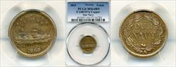 1863 Token F-240/337a Copper Our Navy MS64BN PCGS