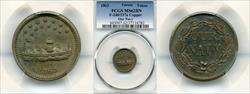 1863 Token F-240/337a Copper Our Navy MS62BN PCGS