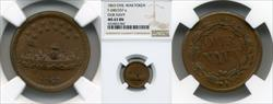 1863 Token F-240/337a Copper Our Navy MS63BN NGC