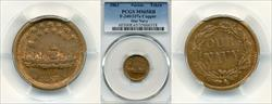 1863 Token F-240/337a Copper Our Navy MS65RB PCGS
