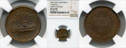 1863 Token F-240/341 Copper Union For Ever MS64BN NGC