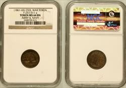 (1861-65) Token F-257/311a Copper Army & Navy MS64BN NGC