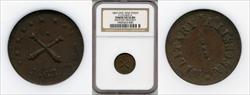1863 Token F-172/429 Copper Military Necesity AU55BN NGC