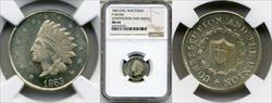 1863 Token F-60/346 a CONSTITUTION MS64BN NGC