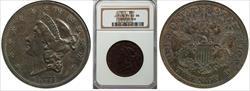 1871 $20 J-1176 PR63BN NGC