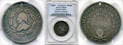 (1800) Medal GW-71 Silver Skull and Crossbones VF20 PCGS