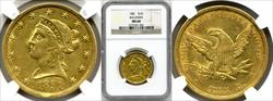 1851 $10 Baldwin MS60 NGC