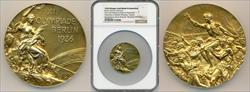 1936 Olympic Gold Medal in Basketball Presented by James Naismith NGC
